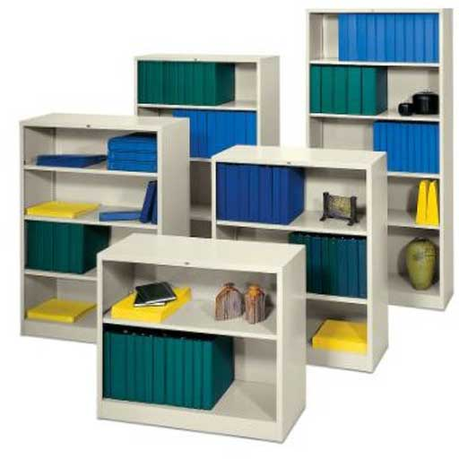 HON Steel Bookcase with Open Front Design