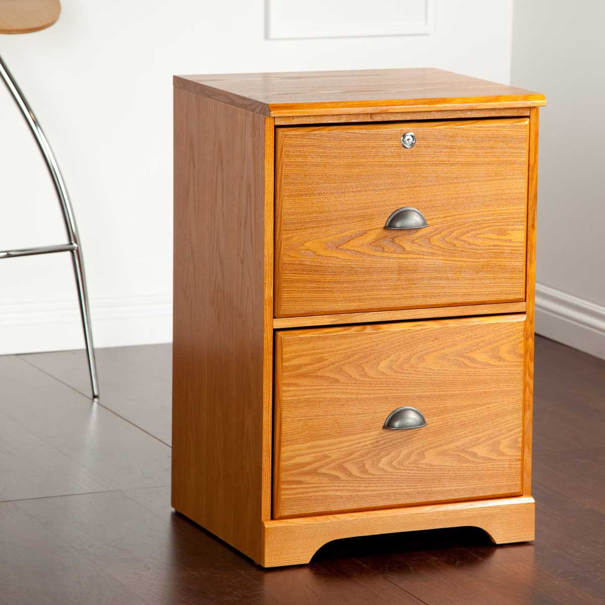 Hawthorne 2 Drawer Oak Vertical Filing Cabinet