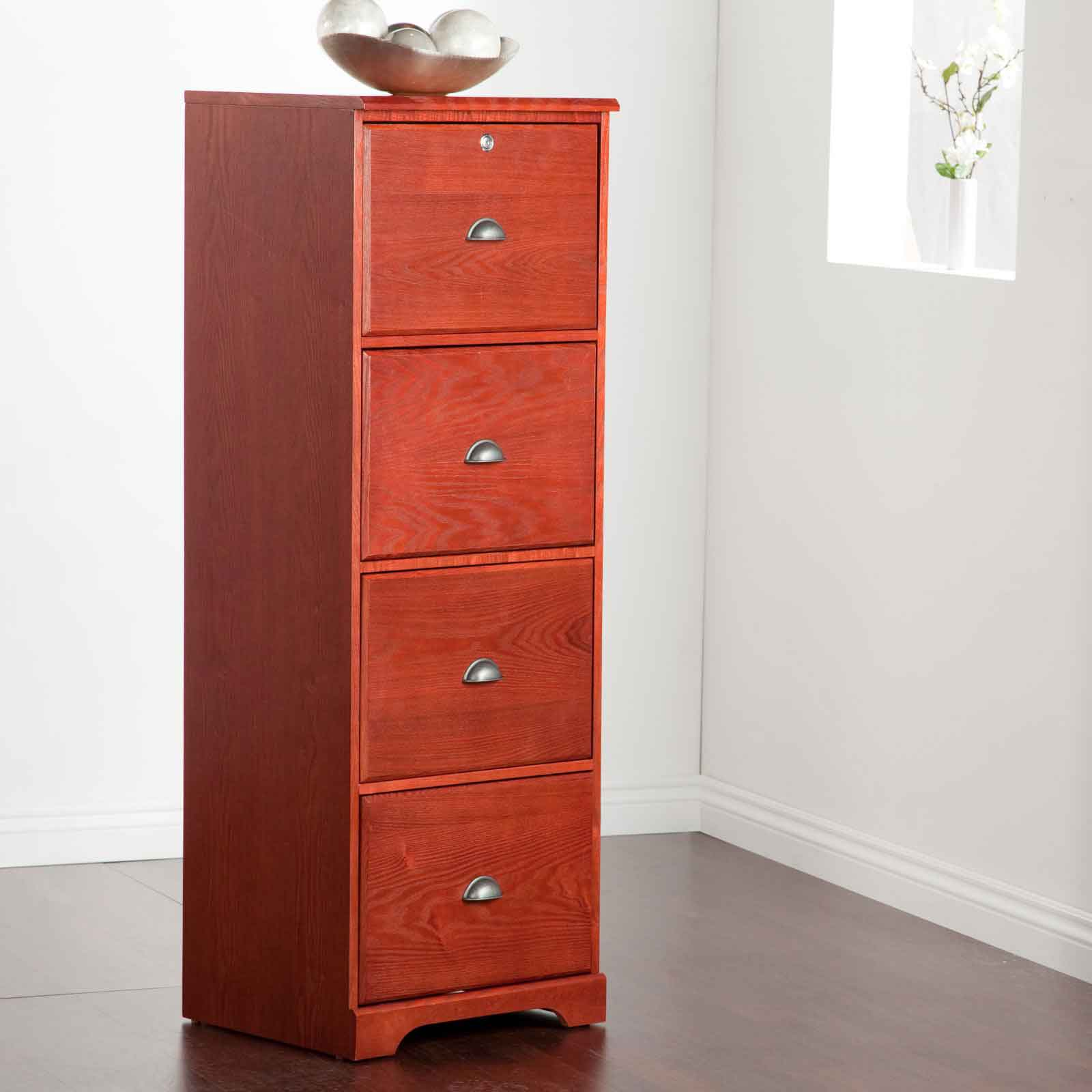 Hawthorne vertical 4 drawer wood filing cabinets