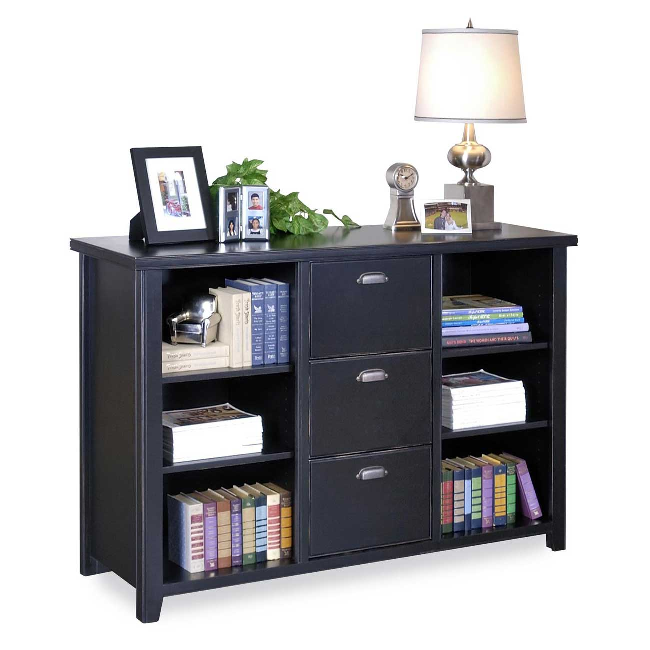 Kathy Ireland Tribeca Loft Wood Filing Cabinet with Bookcase