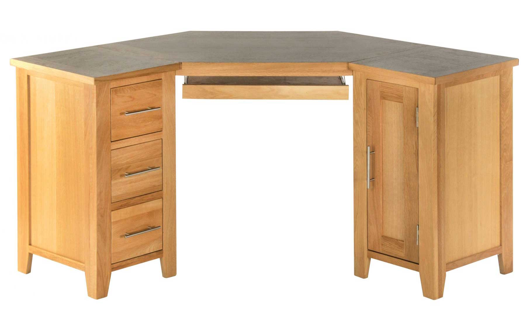 Kent Oak Corner L-Shaped Computer Desk