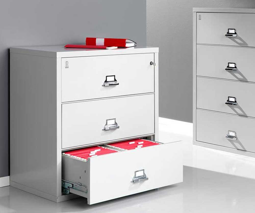 Lateral metal fireproof filing cabinets systems