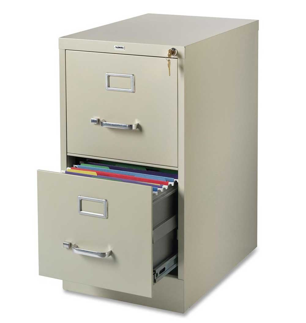 Lorrell Two Drawers Vertical Office Filing Cabinet