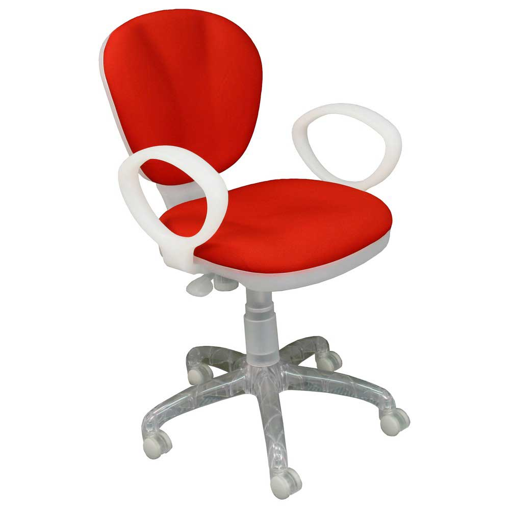 Low Back Red Fabric Computer Task Chair