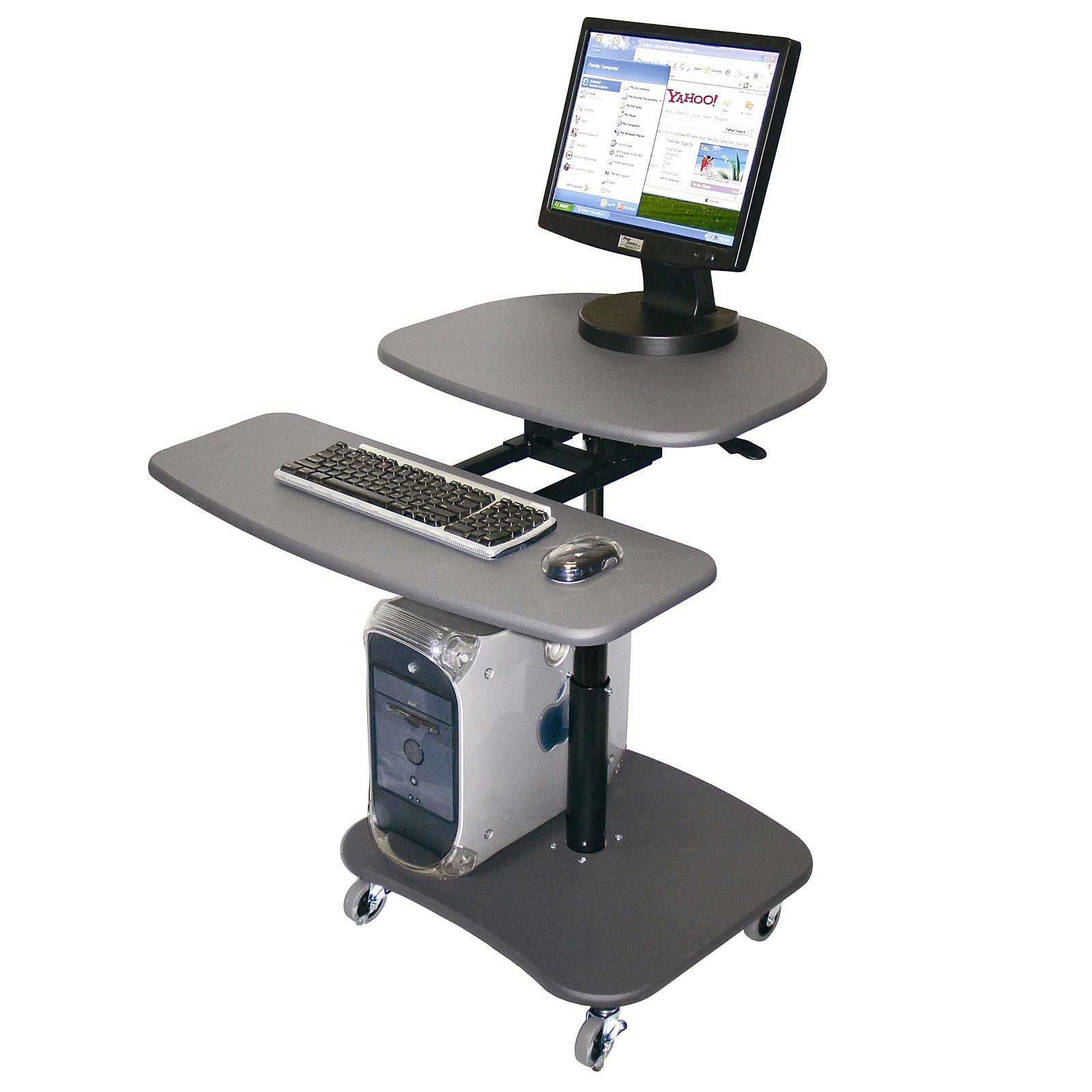 Luxor Mobile Computer Workstations with Adjustable Height