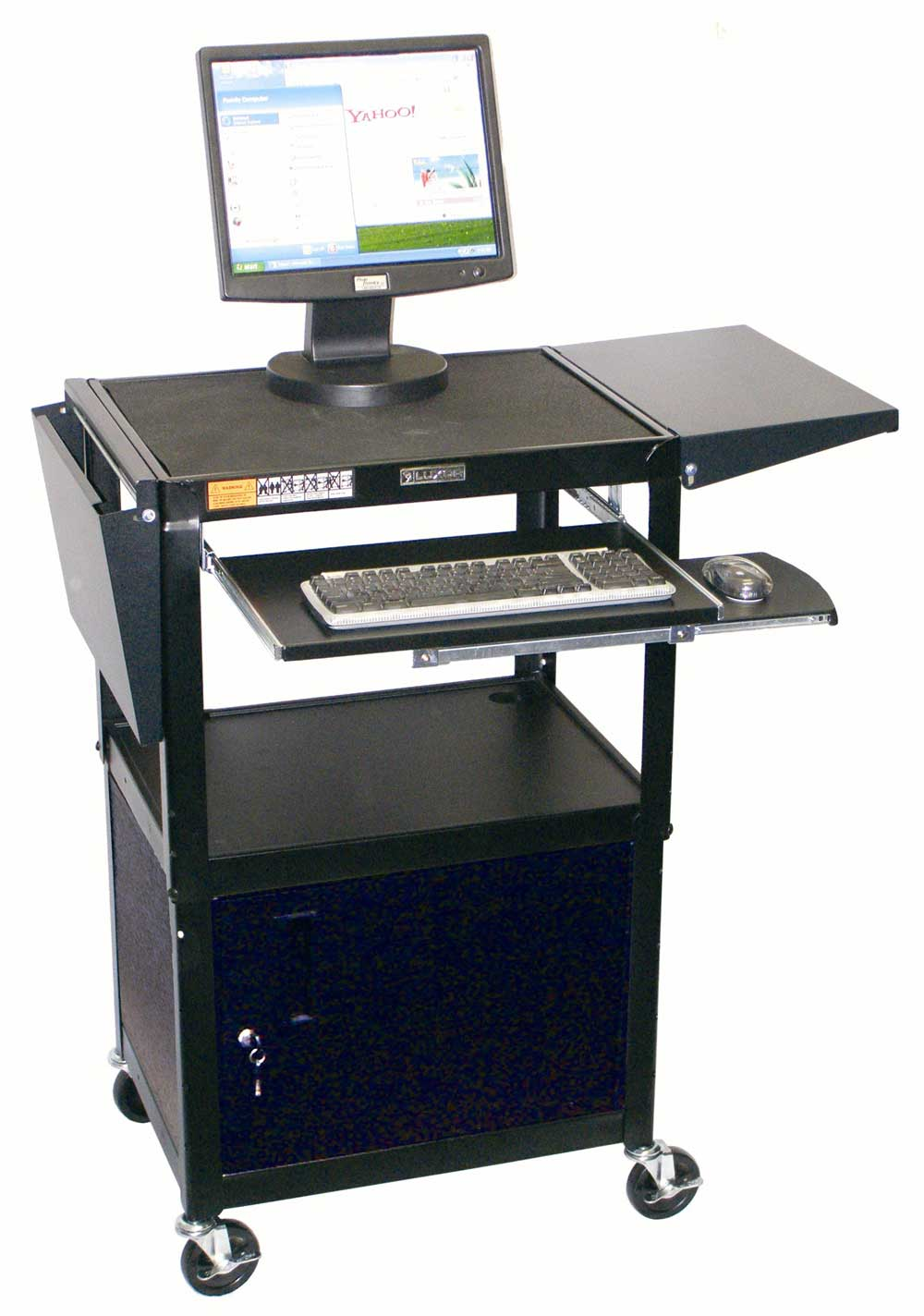 Luxor black personal computer stand