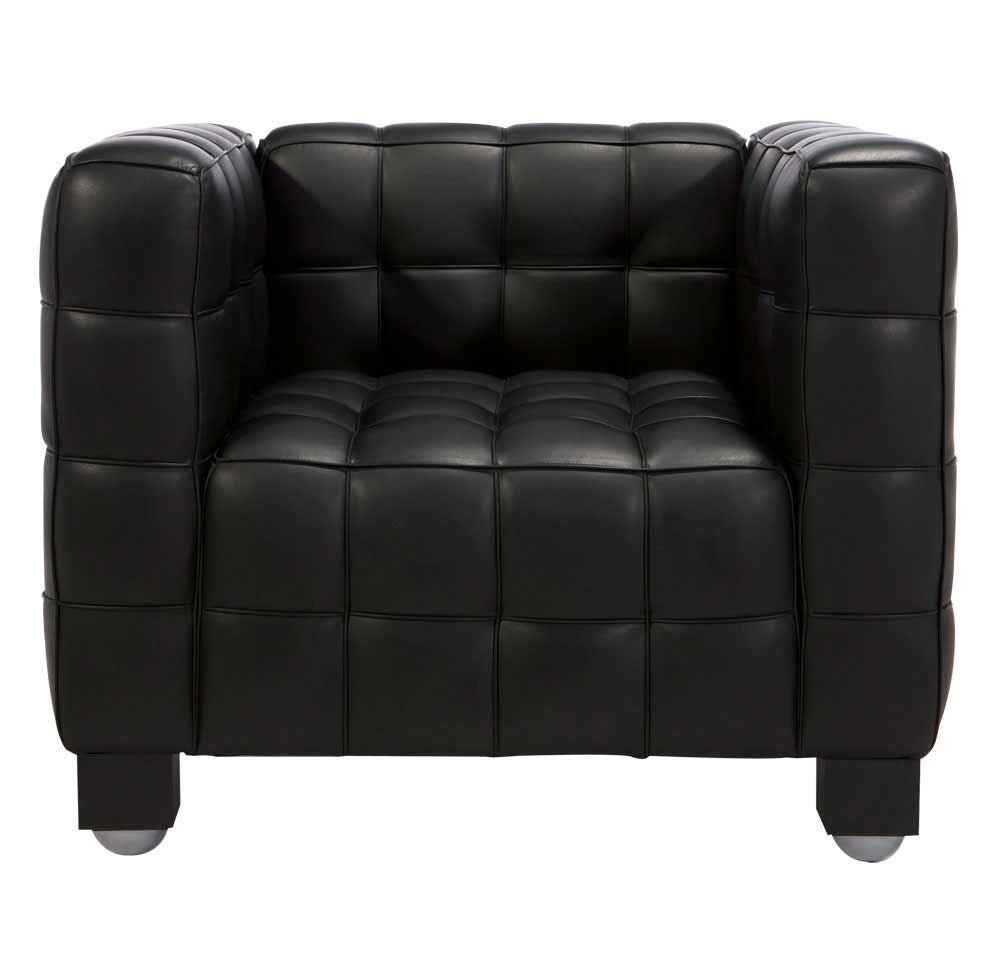 Luxury Aristocratic Black Italian luxury office sofas