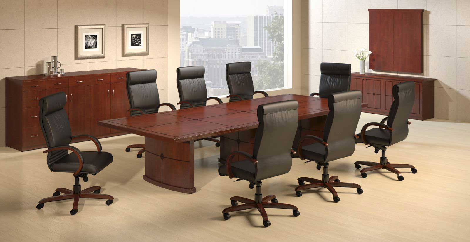 Mayline Hennessy director office wood conference table