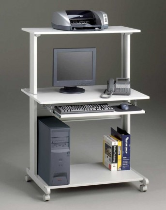 Mayline Mobile Computer Cart in Dove Gray