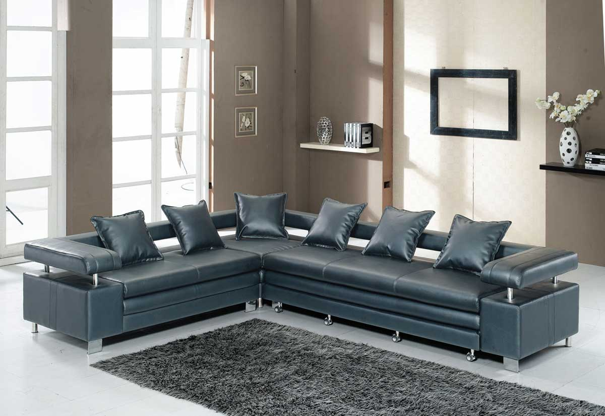 Melrose Black Executive Sectional Sleeper Sofas