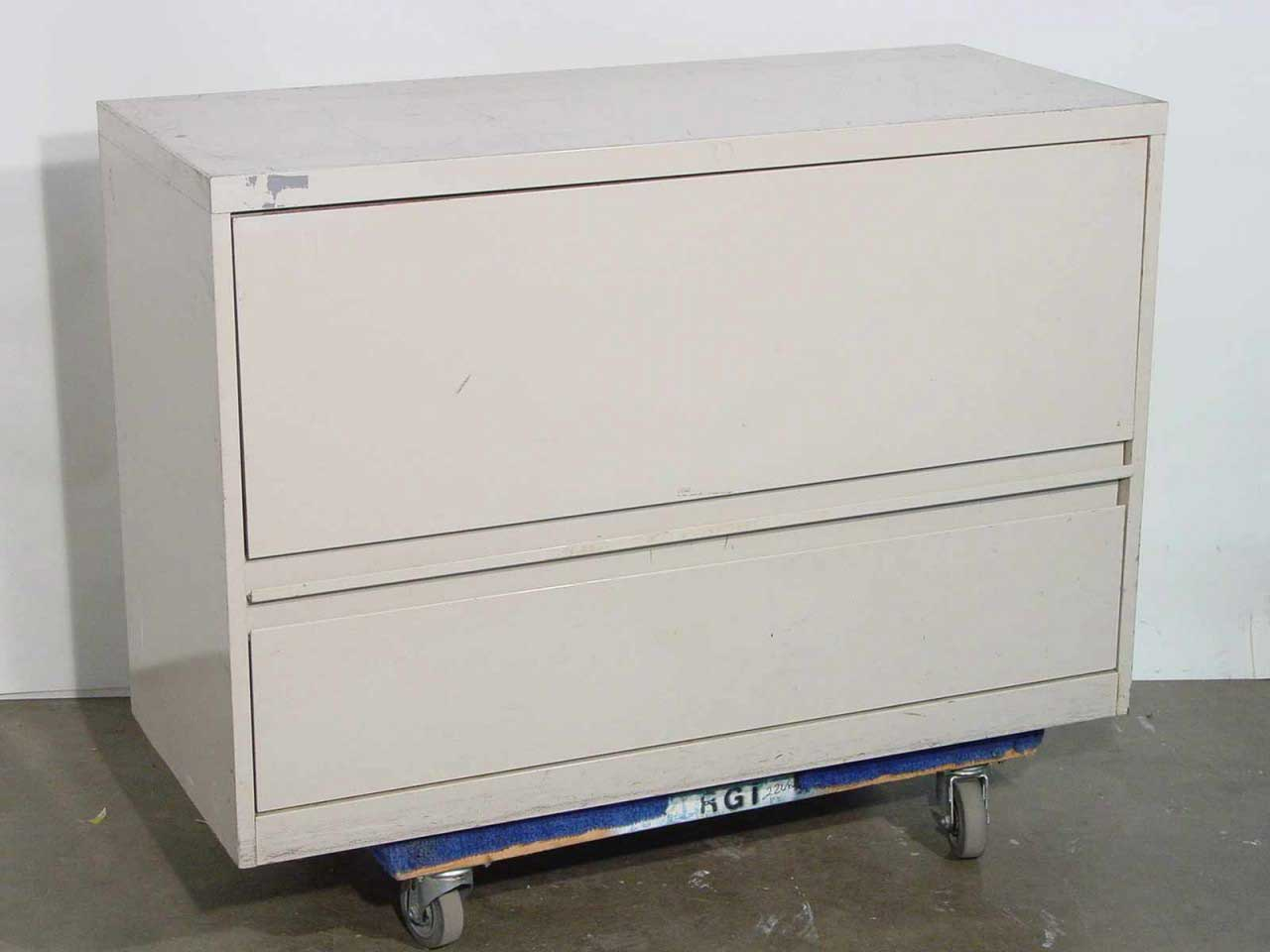 Metal Lateral 2 Drawers Used Filing Cabinets