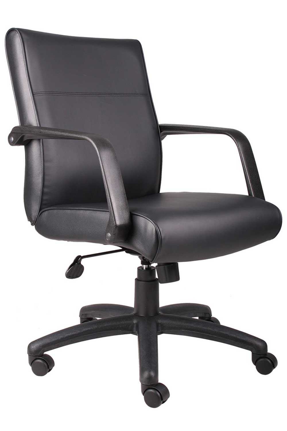 Mid Back Leather Adjustable Home Office Chair