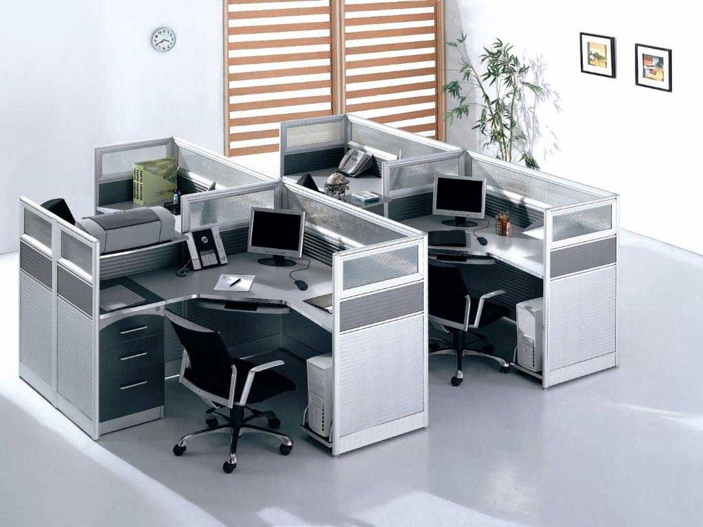 Modern Compact Glass Office Cubicle and Workstations