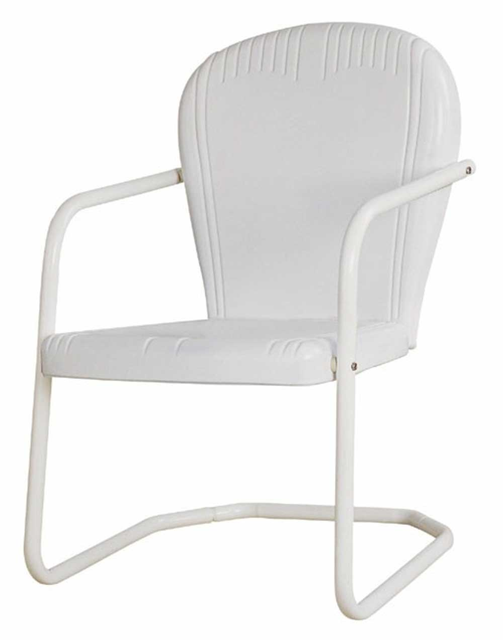 Modern White Steel Lawn Chair for Outdoor