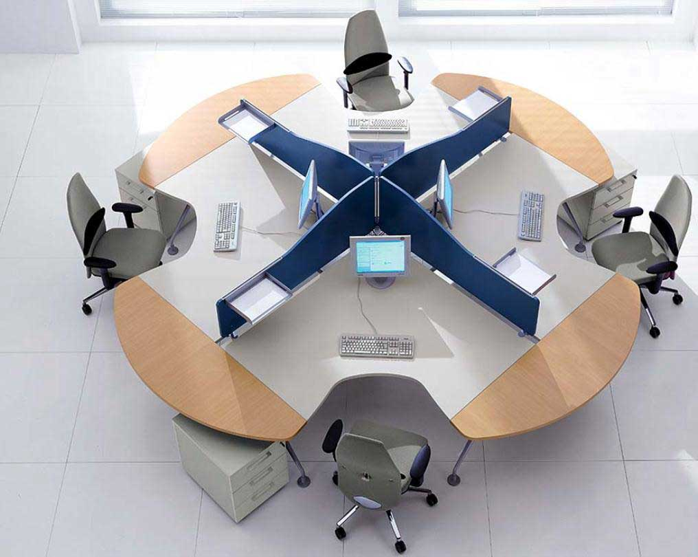 Modular Simple Office Furniture Cubicle Concept