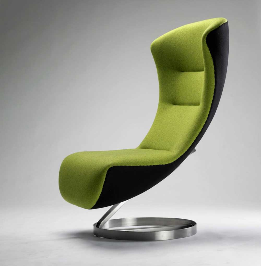 Nico Klaber futuristic green waiting office chair