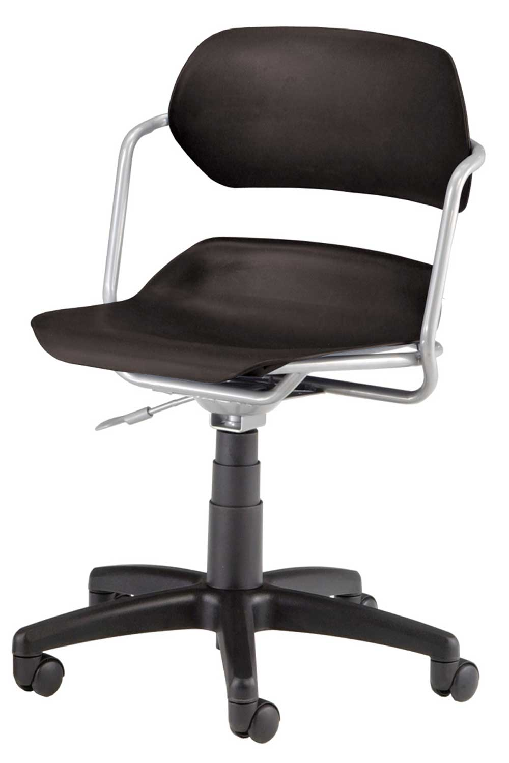 OFM Armless Wheeled Plastic Swivel Chair