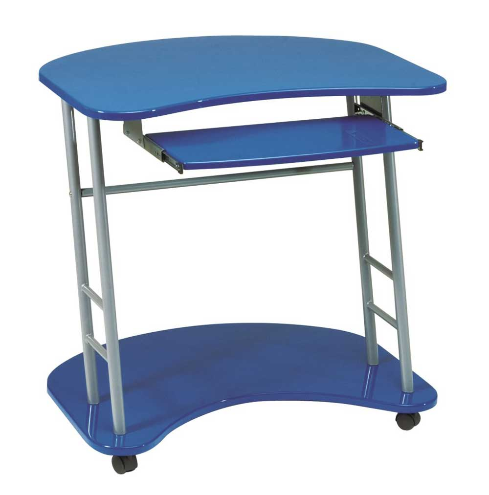Office Star Blue Computer Desk Cart