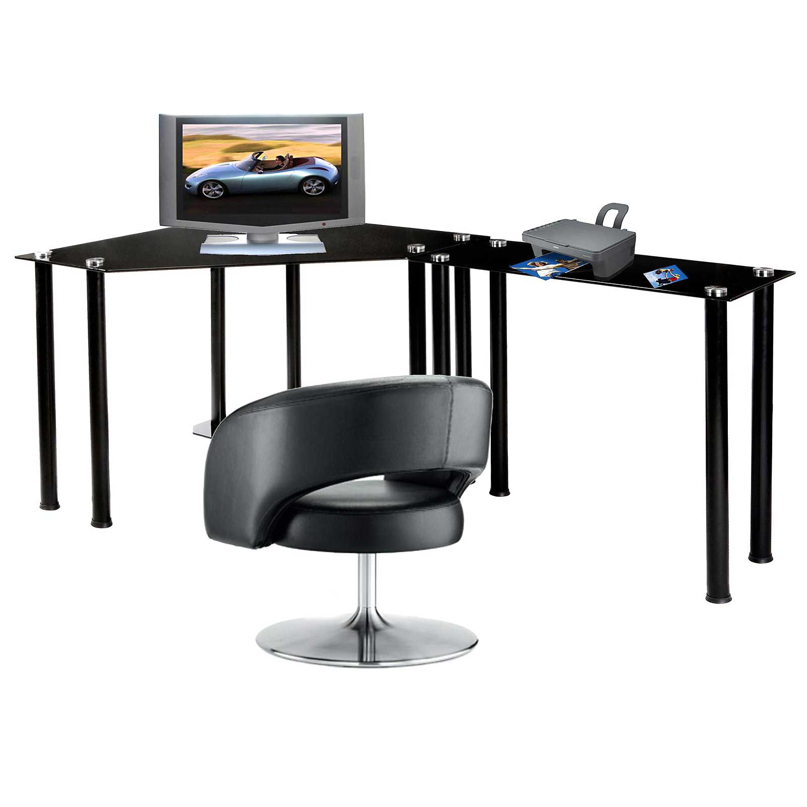 RTA L-Shaped Corner Black Computer Workstations