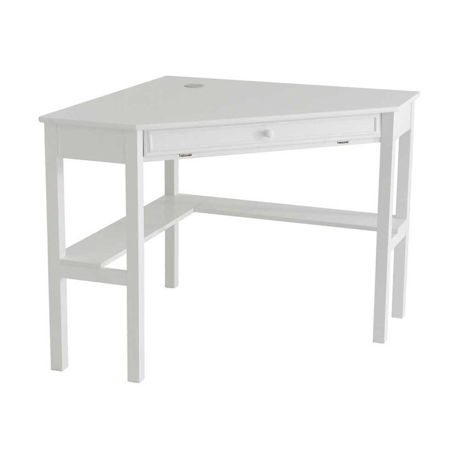 SEI Bright White Corner Computer Desk