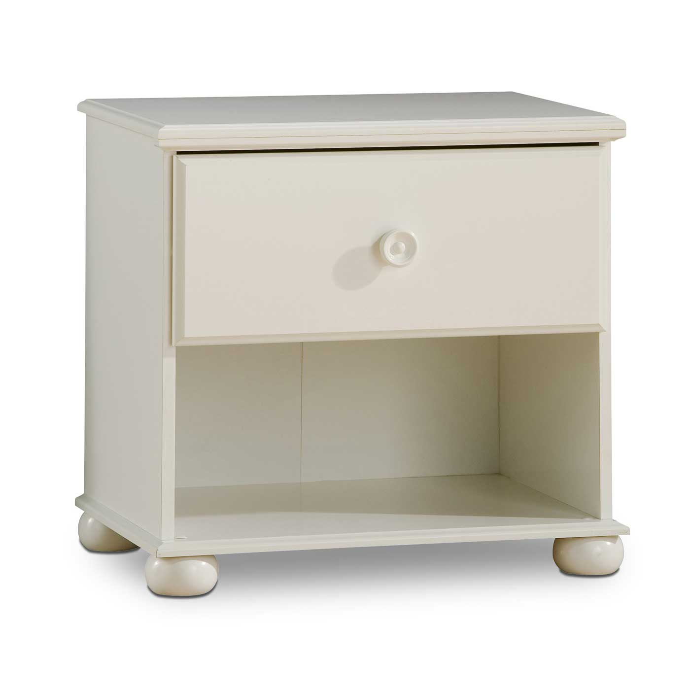 Sand Castle Pure White Nightstand