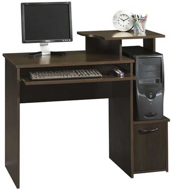 Sauder Contemporary Prepac Black Office Computer Desks