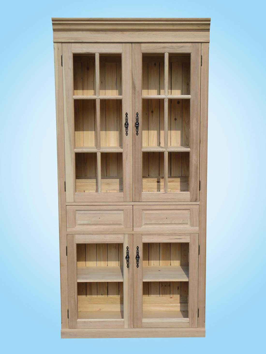 Solid Walnut Tall Unfinished File Cabinets for Home Office