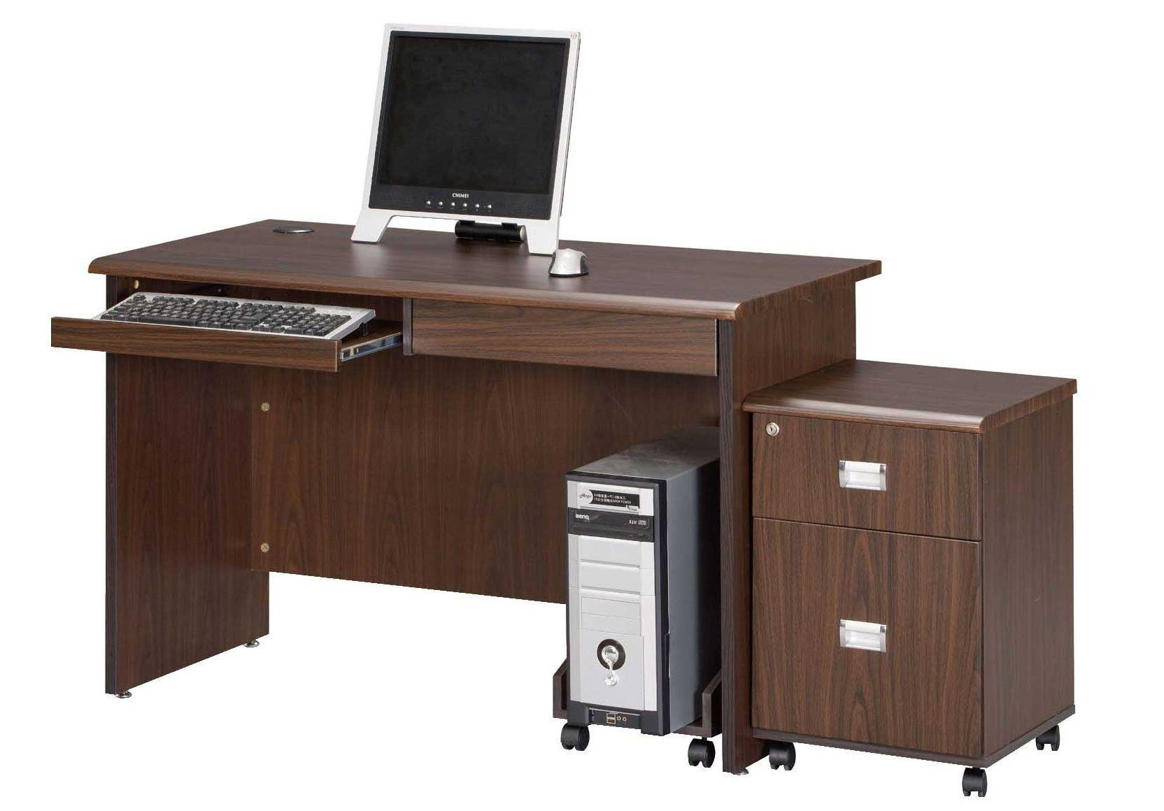 Solid Wood Mobile Computer Rack and Cabinets