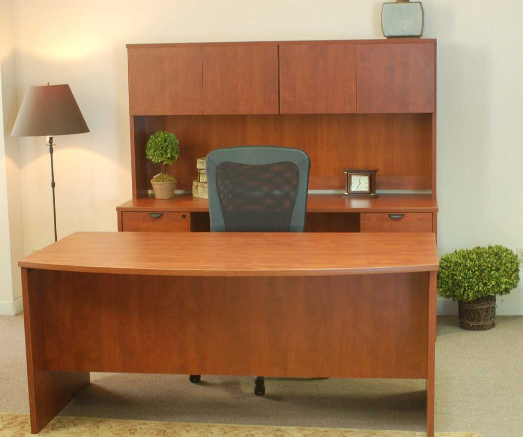 Solid Wooden Reception Desk with Chairs