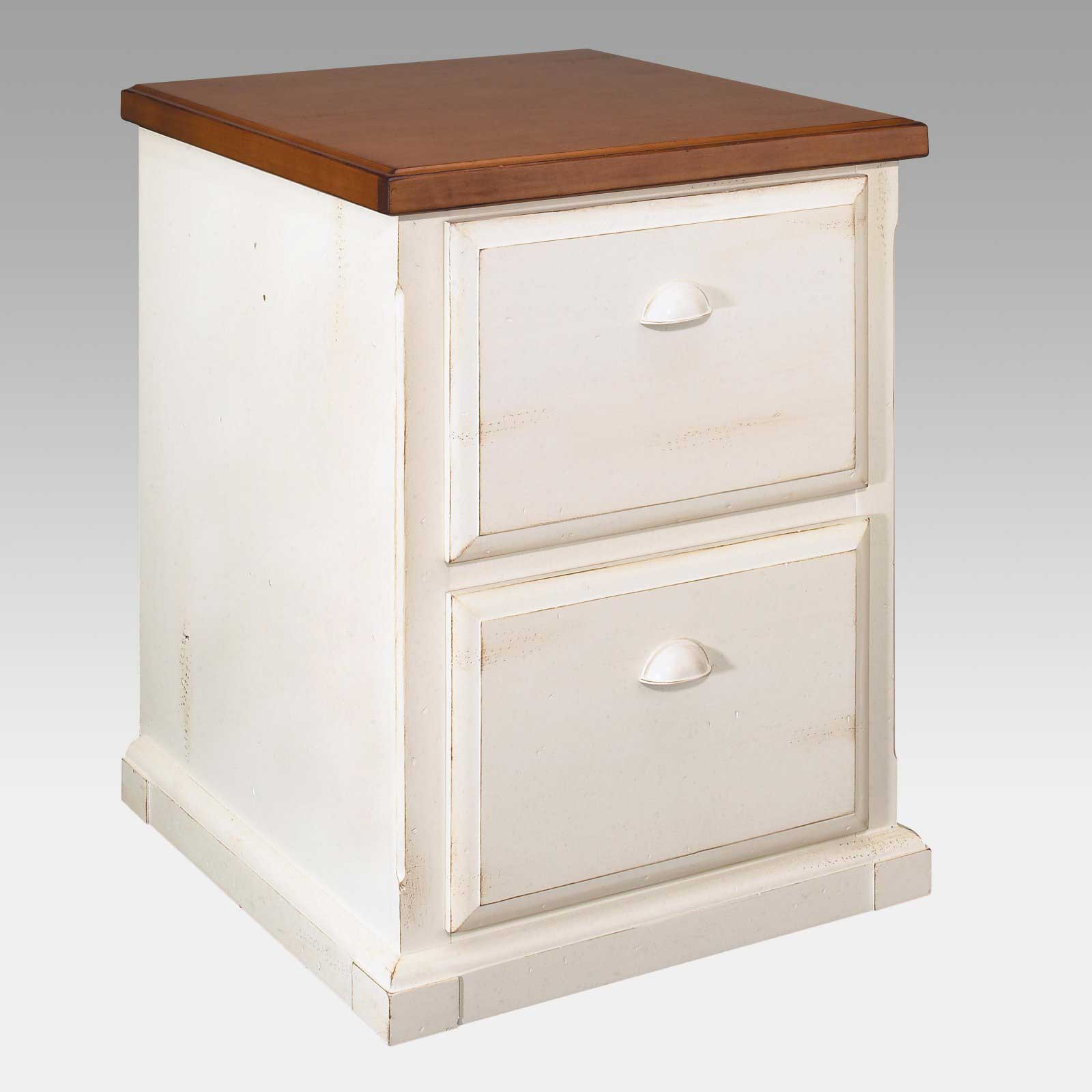 Southampton Two Drawers Vertical White Filing Cabinet