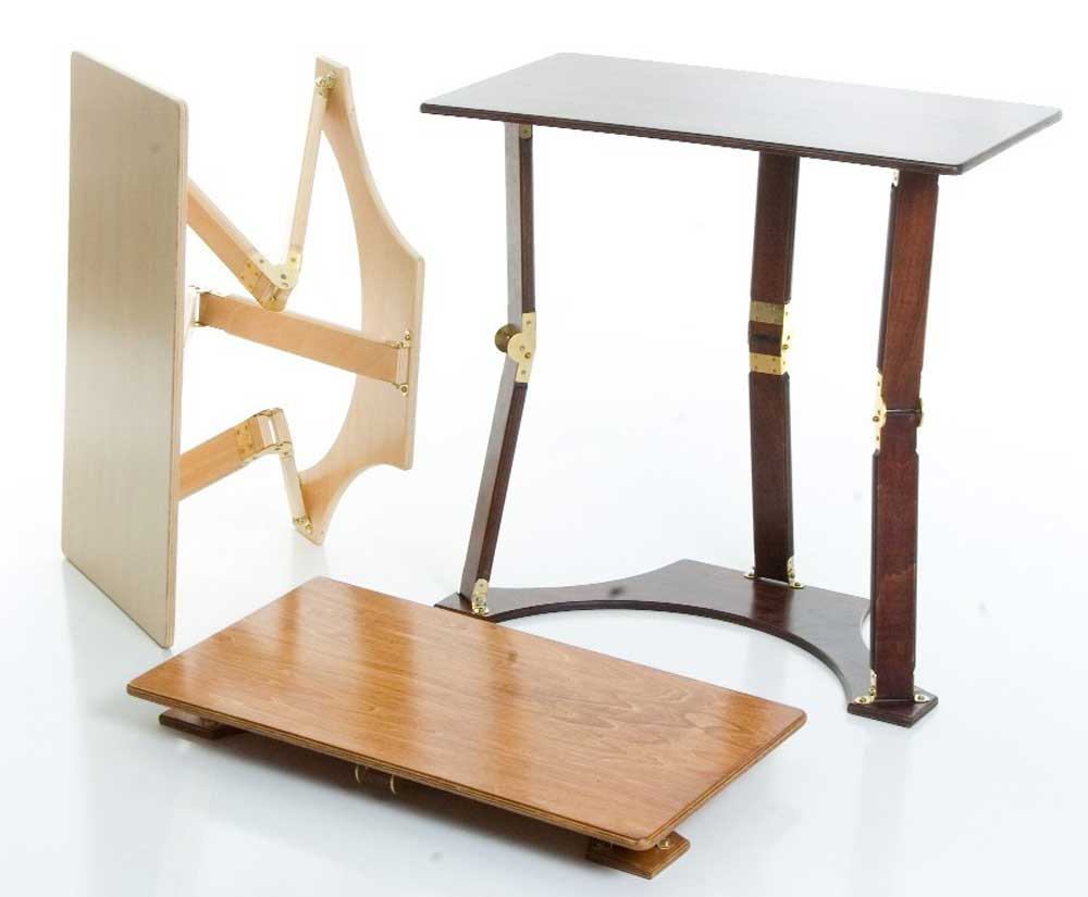 Spiderlegs Small Oak Folding Laptop Table