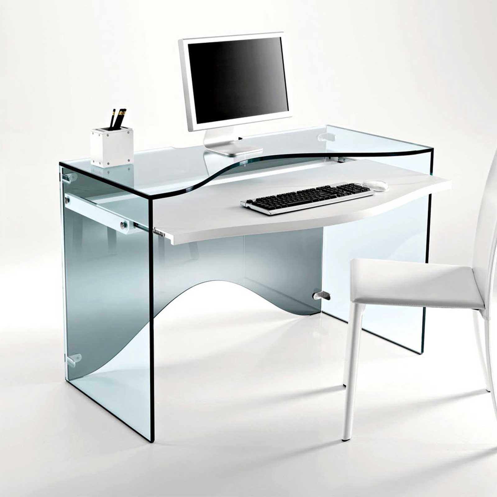 Strata Transparent Glass Office Desk