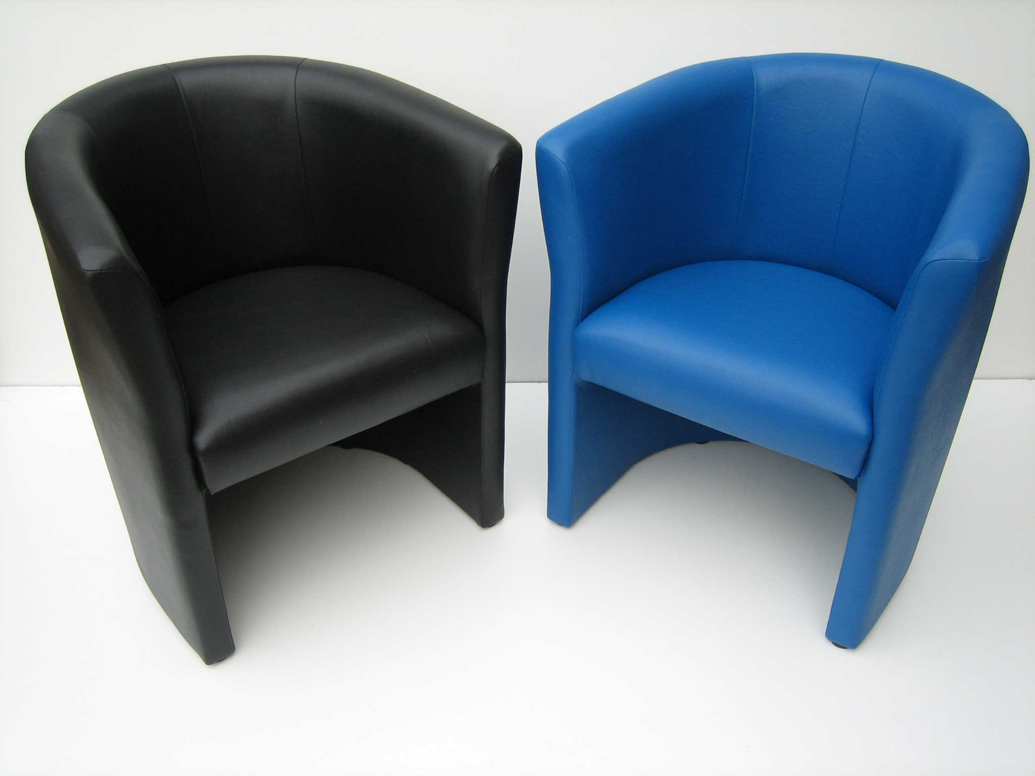 Stylish black and blue home office tub sofas