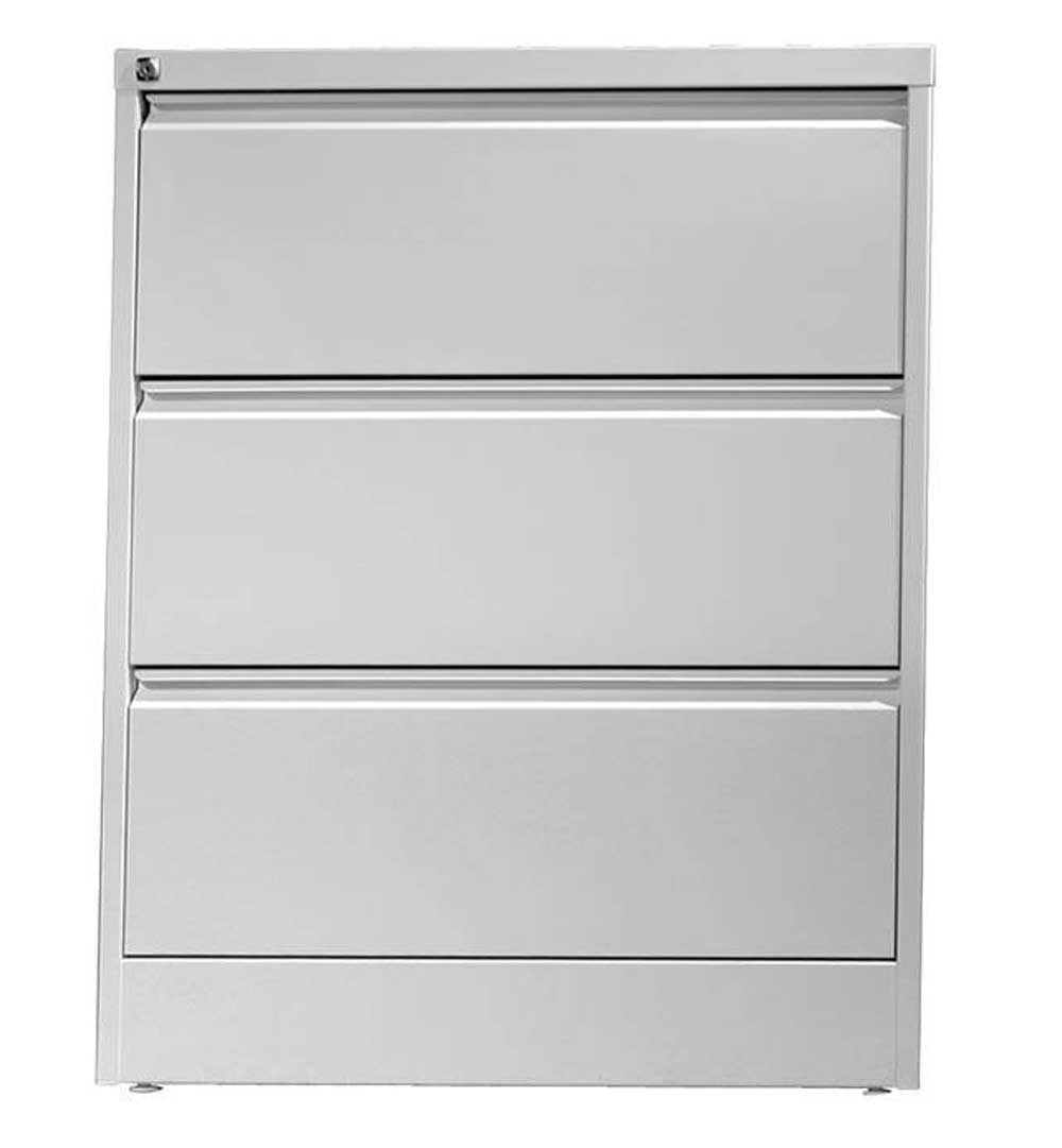 Three Drawers Tilt protected metal filing cabinet with central lock