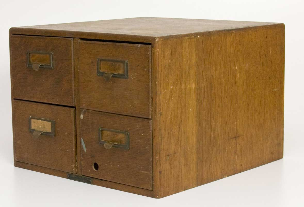 TomLaurus Antique Oak 4 Drawers File Cabinet