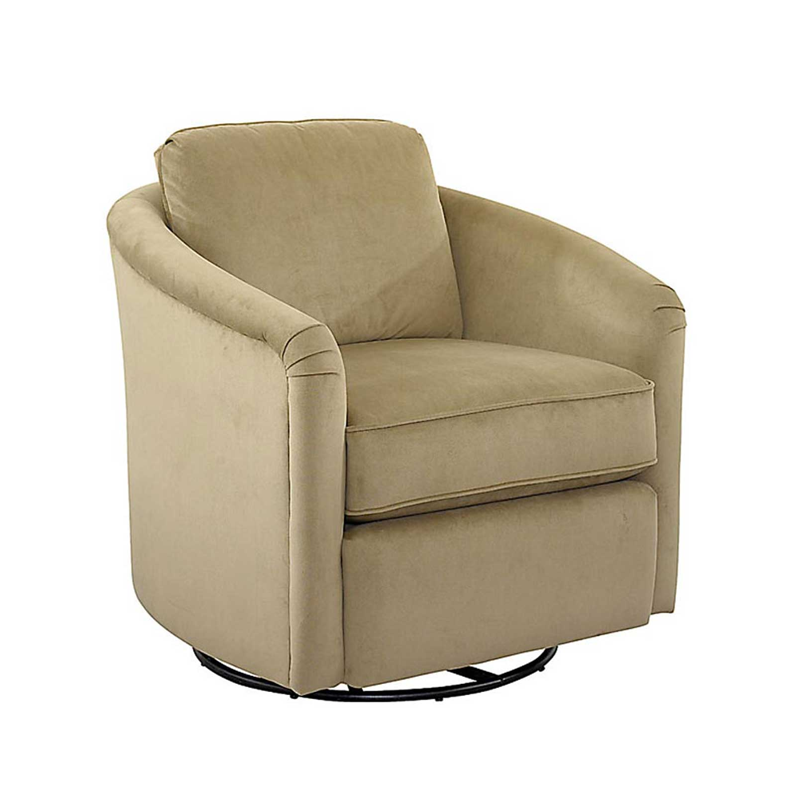 Traditional Upholstered Fabric Swivel Glider Tub Chair