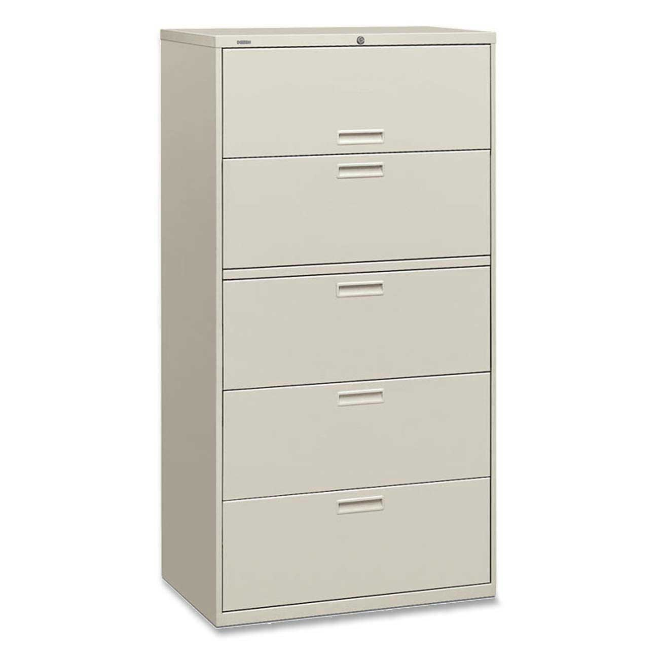White HON Lateral File Cabinet with Lock