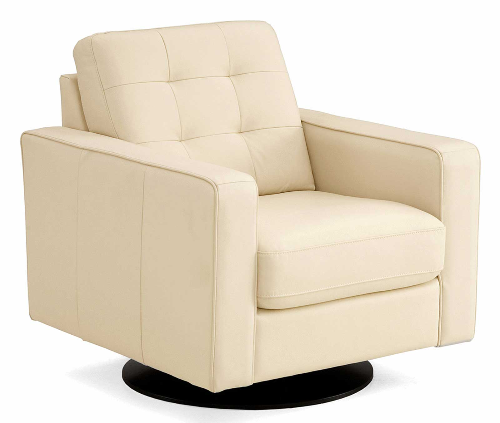 White Leather Swivel Chairs on Executive Design
