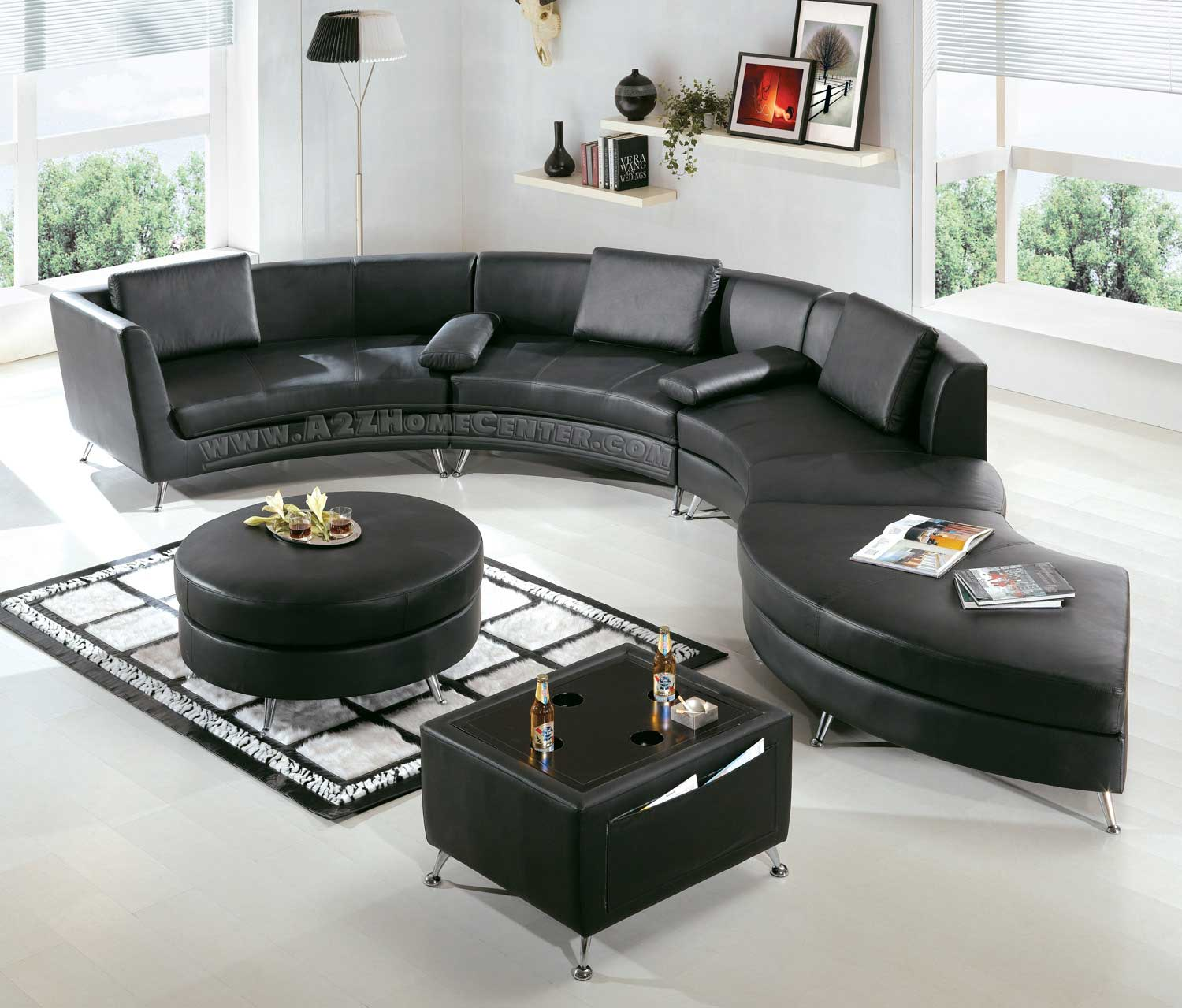 black leather sectional sofas ideas