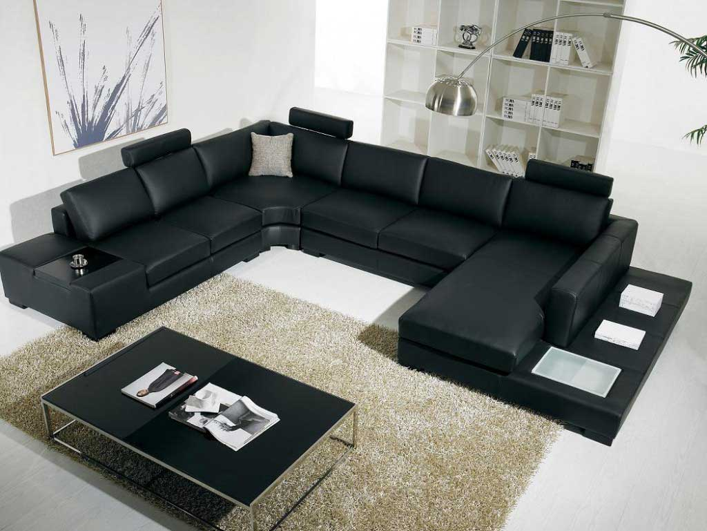 black microfiber sectional sleeper sofas