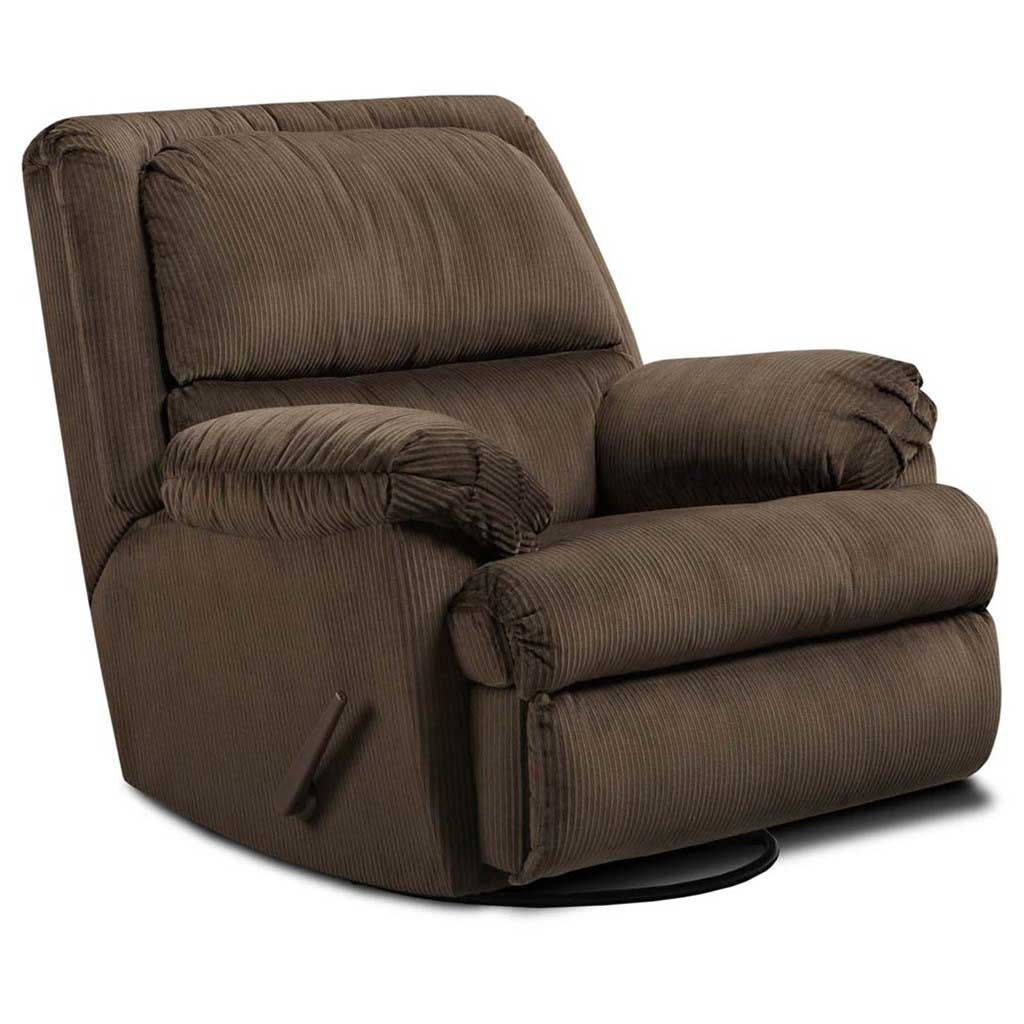 brown velvet swivel glider with padded chaise