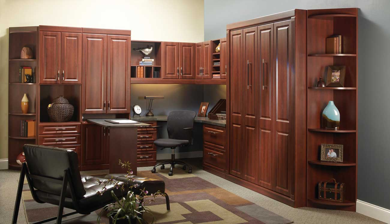 cozy custom home office furniture and workstation