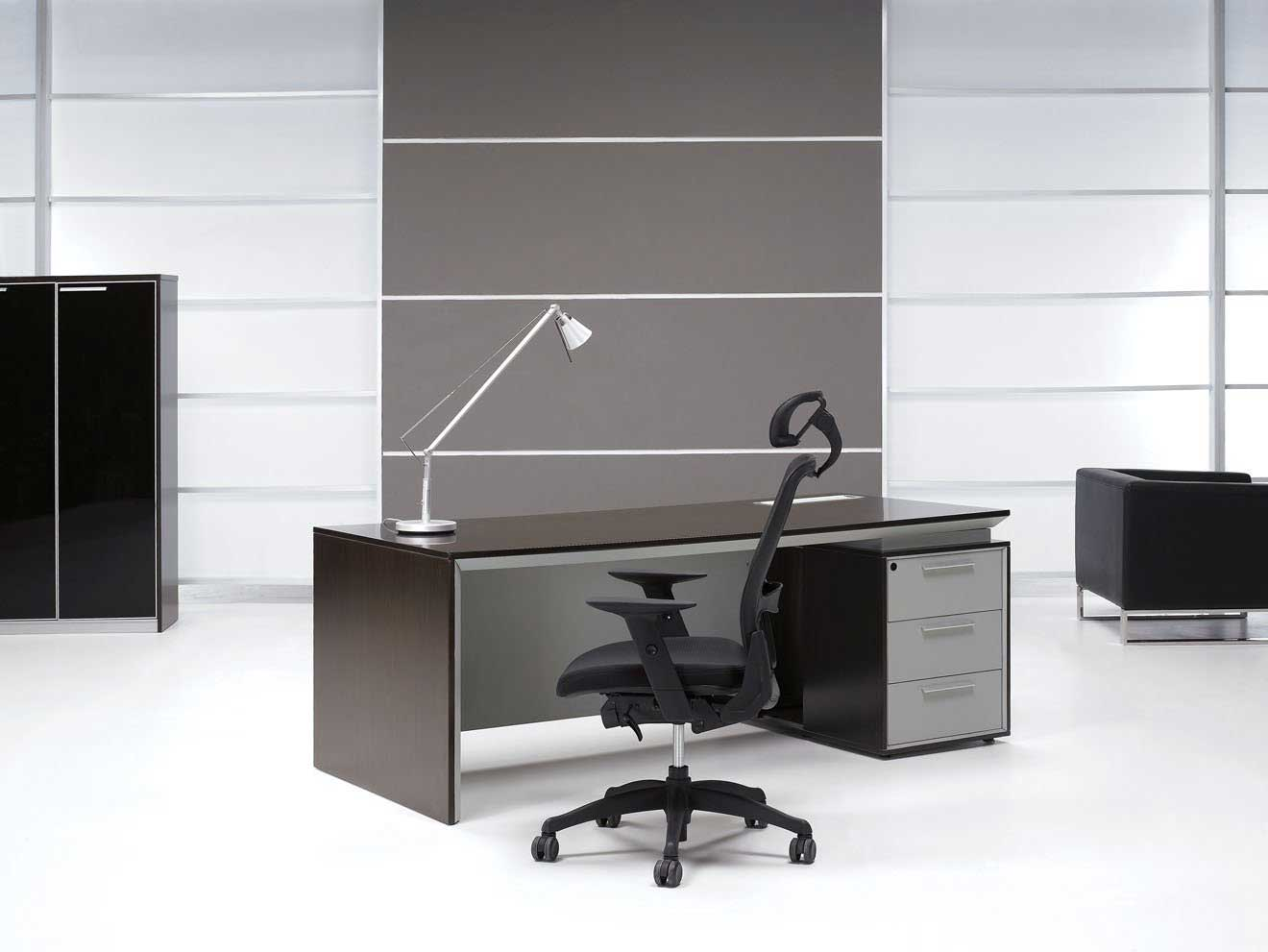 elegant brown executive office desks with chair