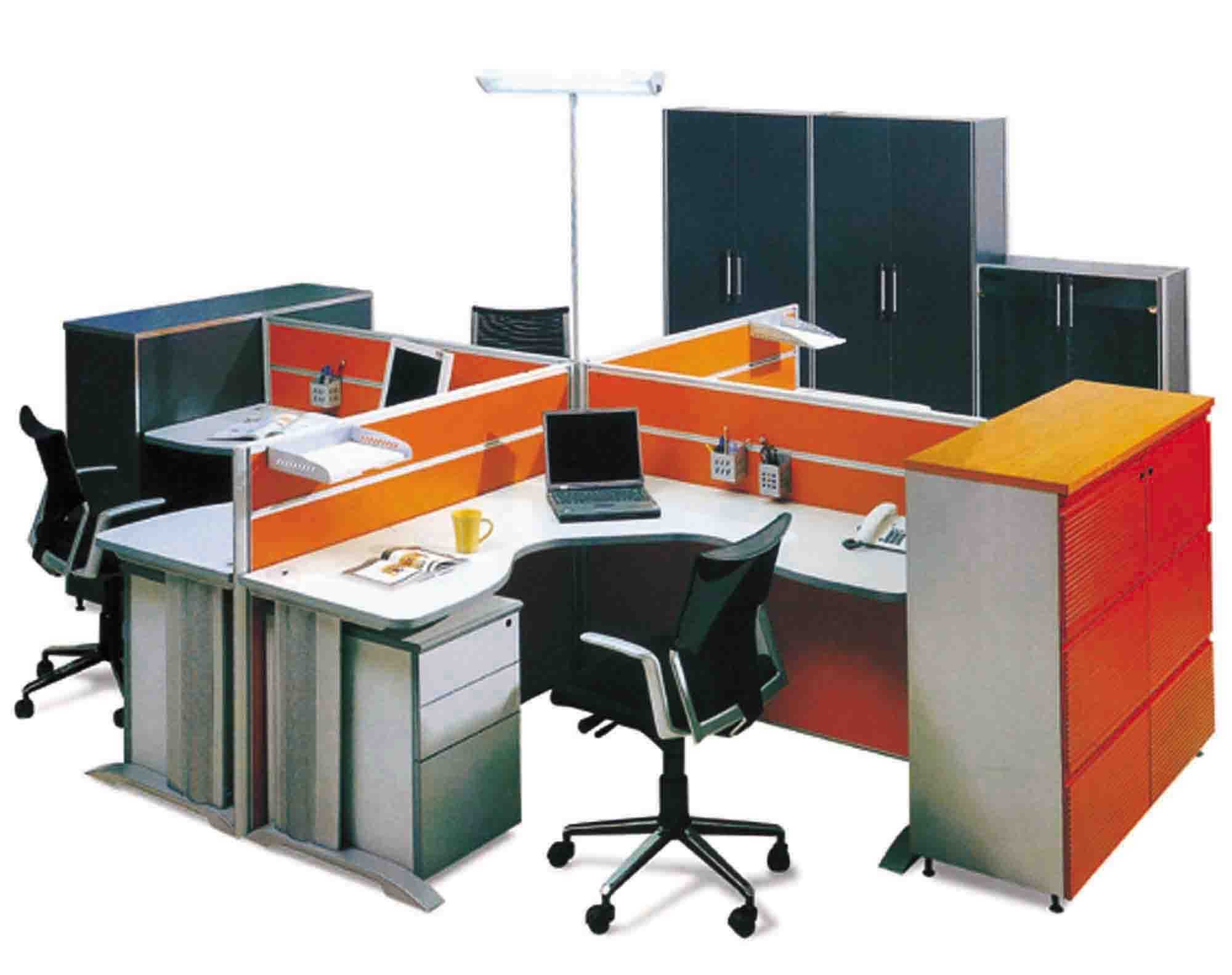 green office supplies and equipment