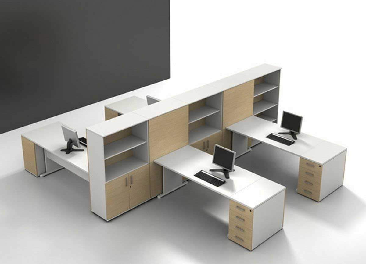 modern designer office furniture with cabinets
