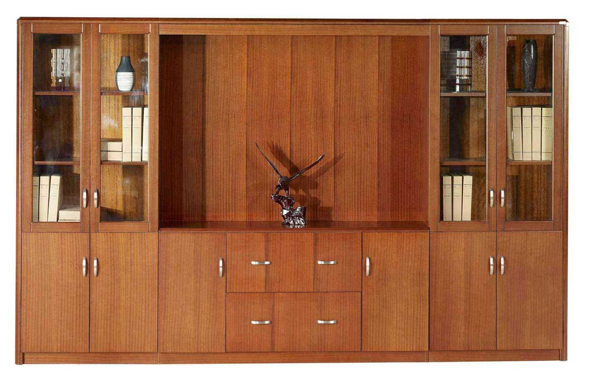office filing cabinets in wood finish