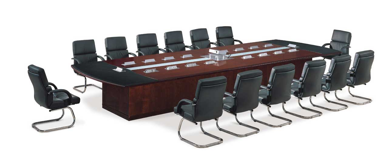rectangular office furniture conference table with seat