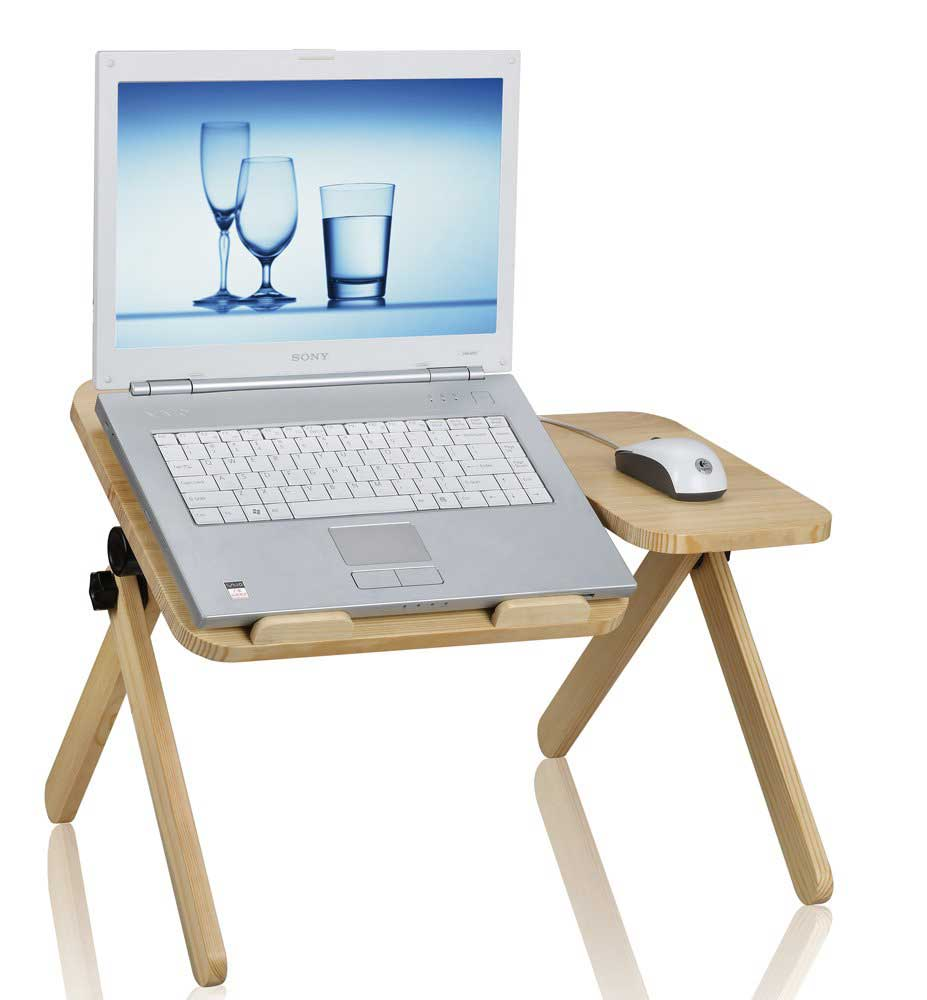 solid wood portable computer desk