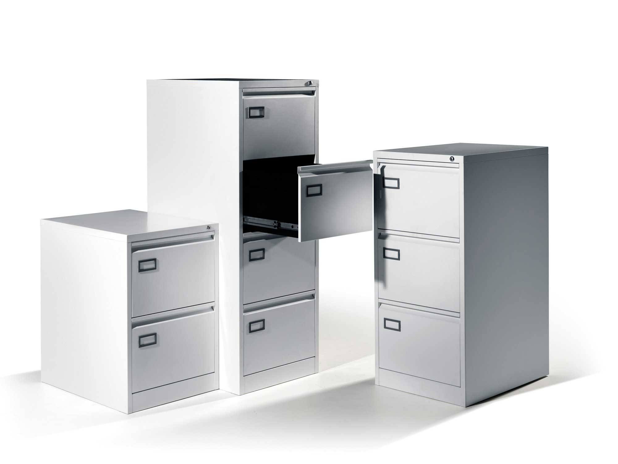 steel white vertical file cabinets