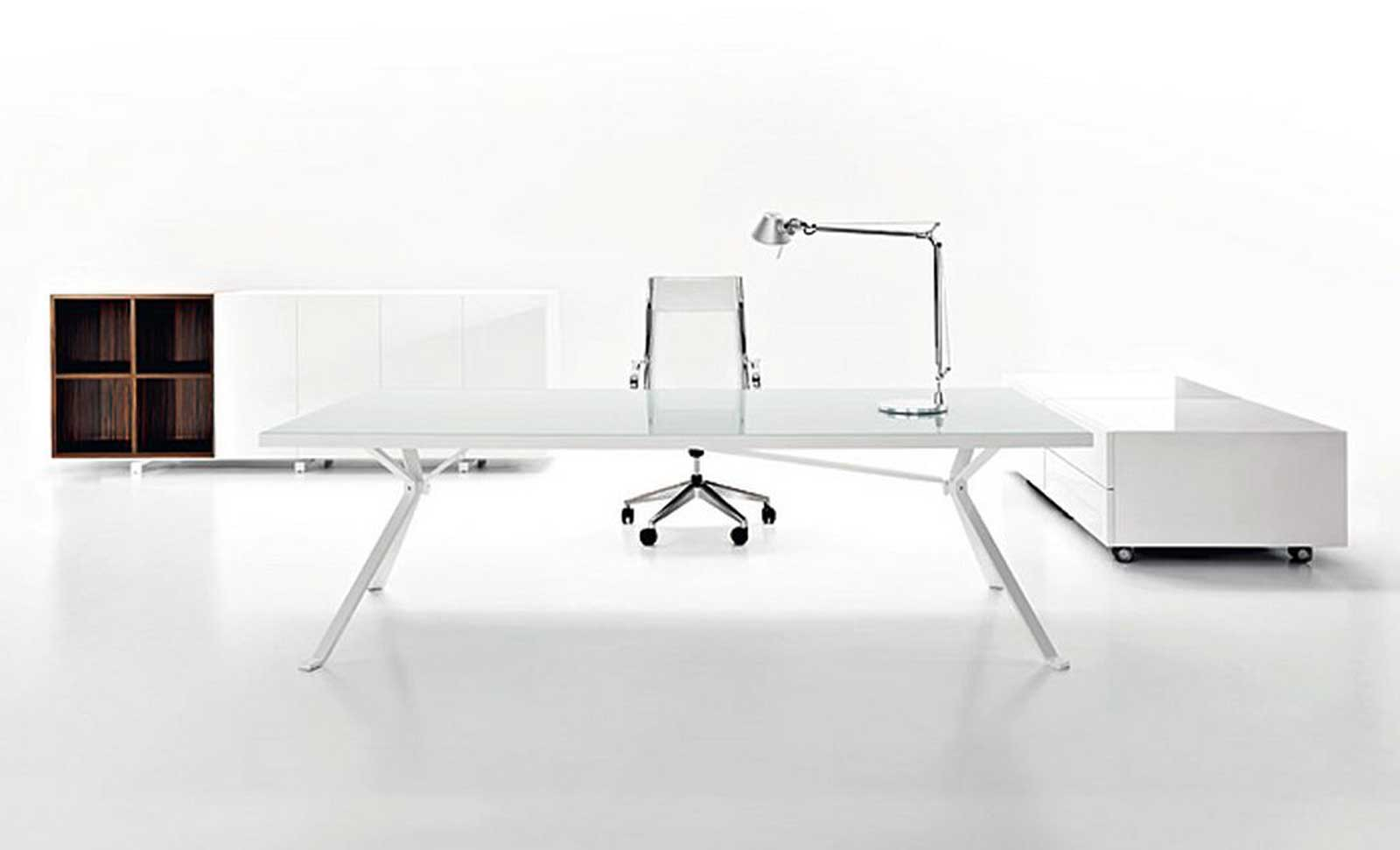white modern designer office furniture executive
